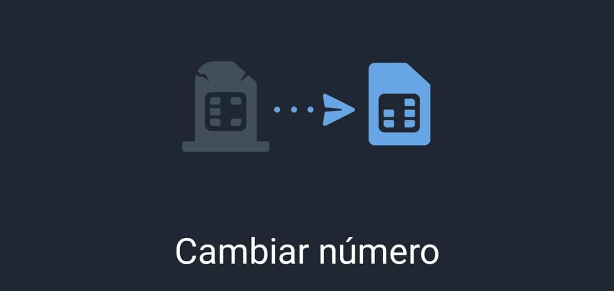 Cambiar número en Telegram