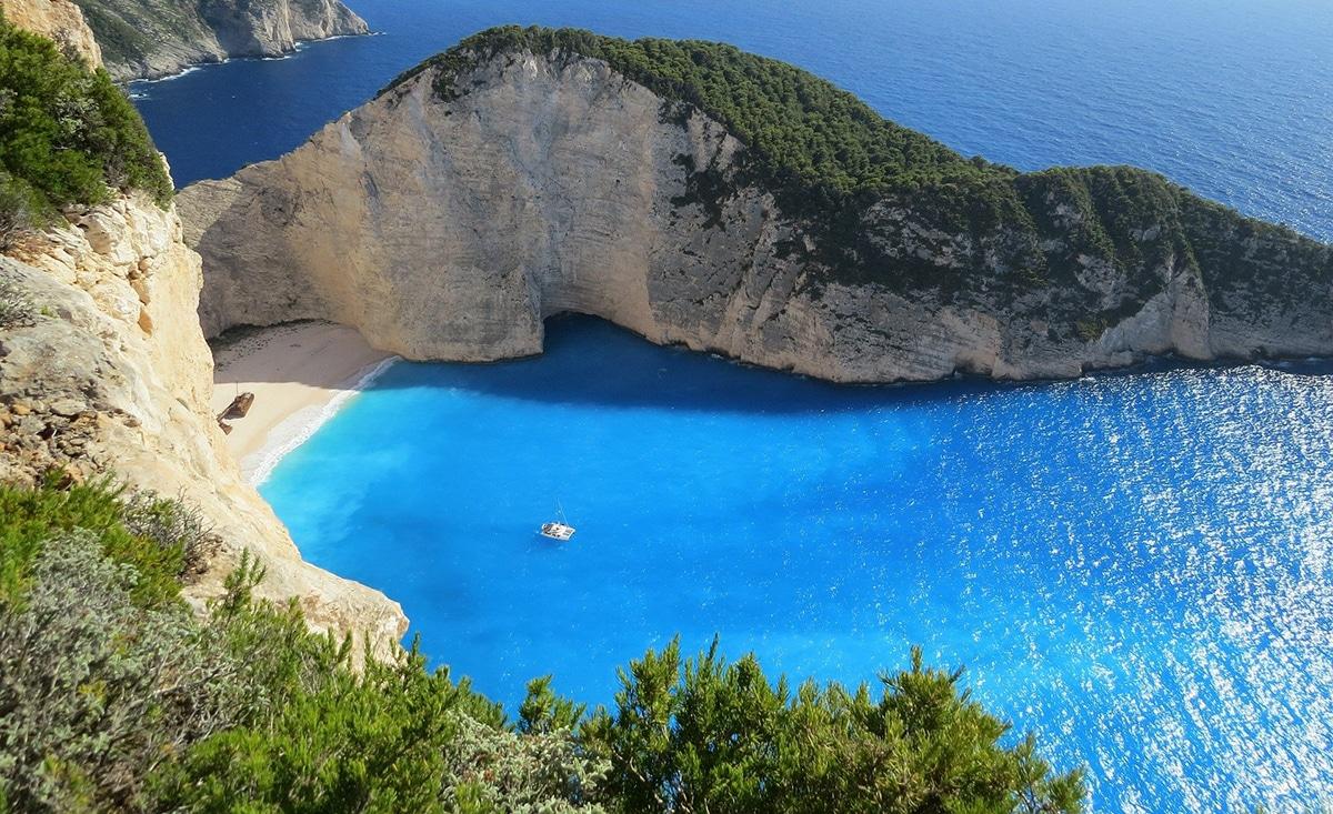 Playa en perfecto estado