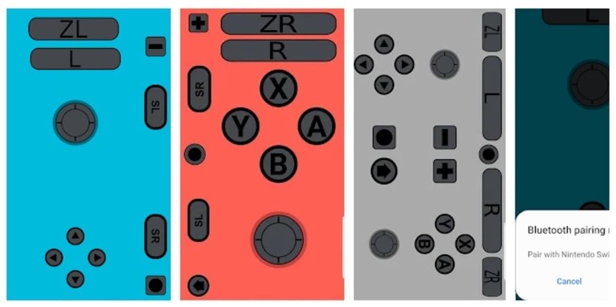 Botones JoyCon Droid