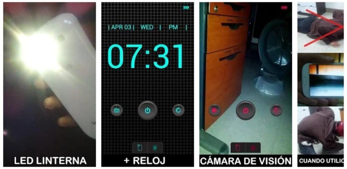 Linterna + Reloj