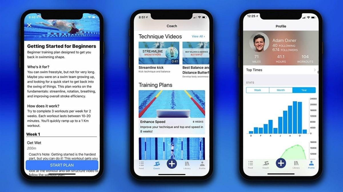 MySwim Pro otra gran app de natacion