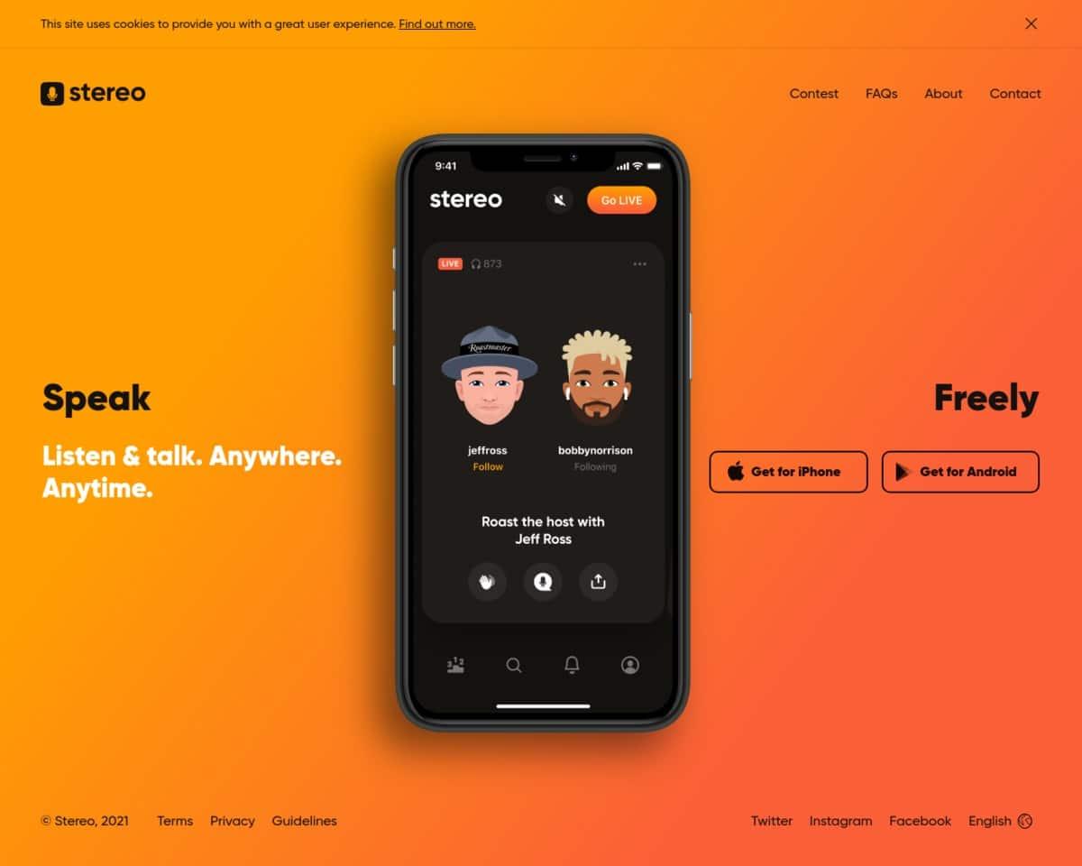 Stereo aplicación