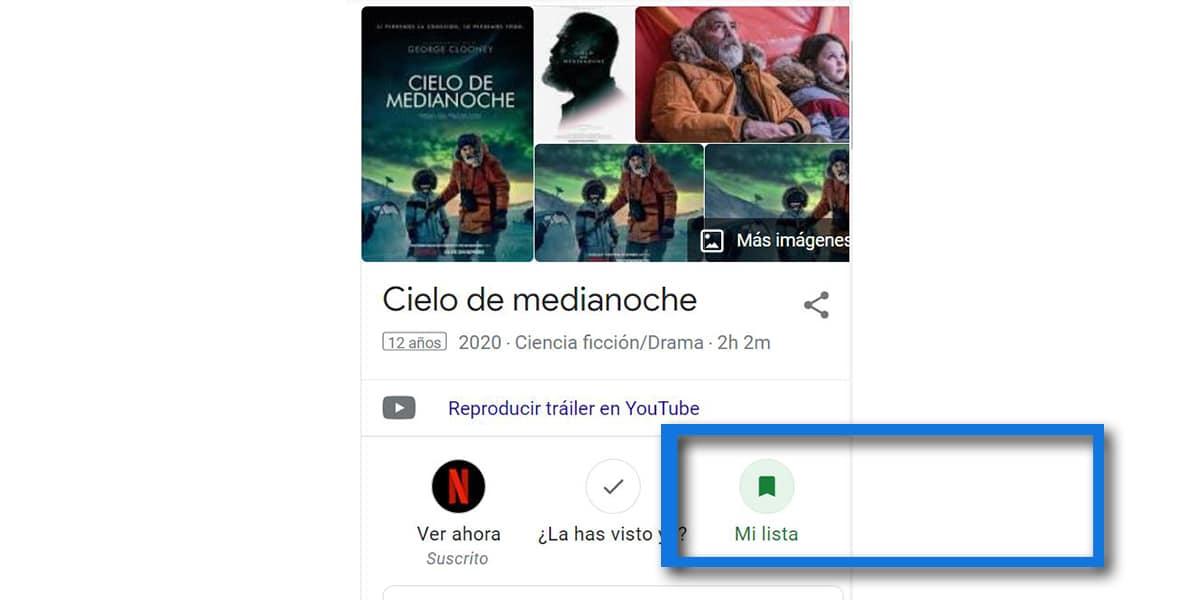 Añadir para ver desde búsqueda de Google