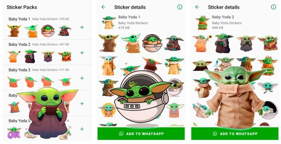 Baby Yoda Stickers for WhatsApp