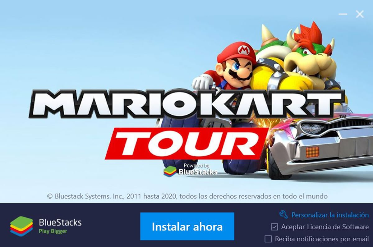 Mario Kart Tour en Bluestacks