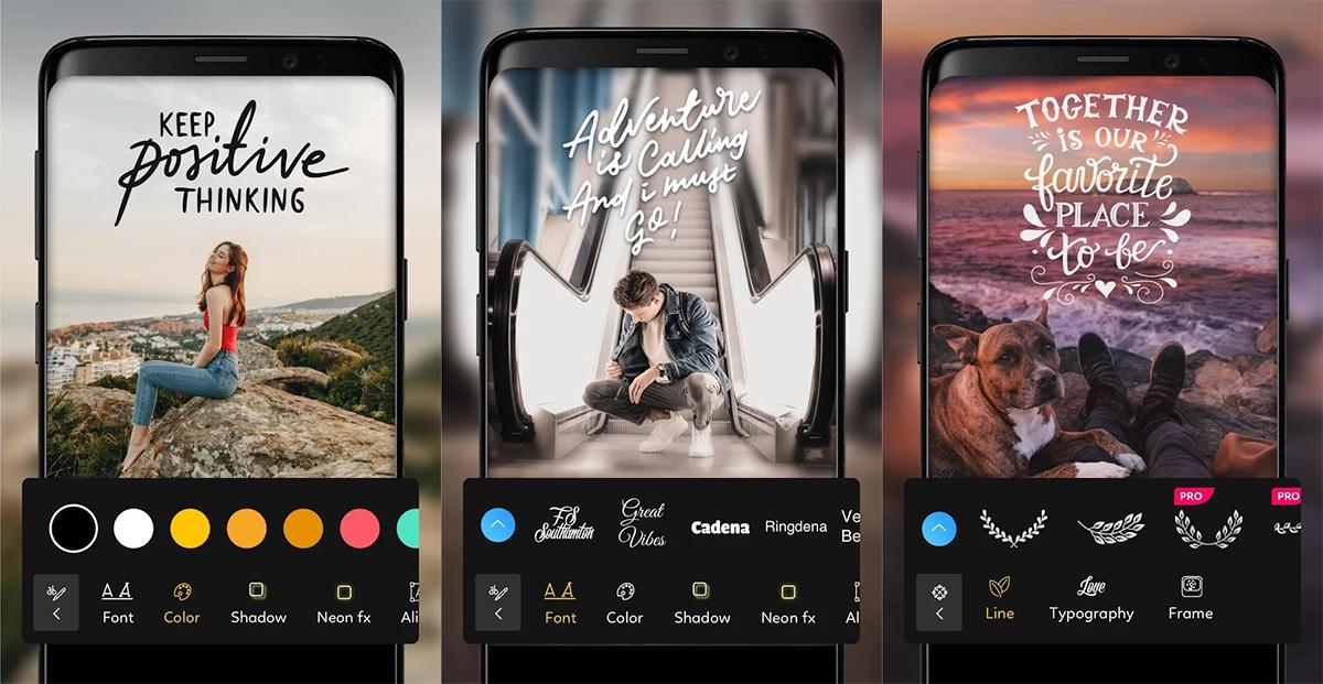 Mejores apps poner texto en fotos