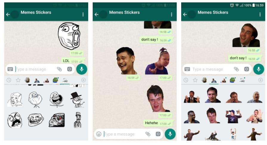 Pegatinas divertidas para WhatsApp