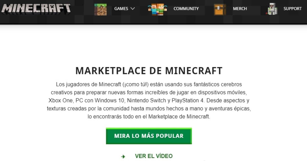 Tienda Minecraft PE