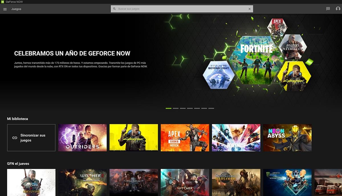 GeForce Now en Windows