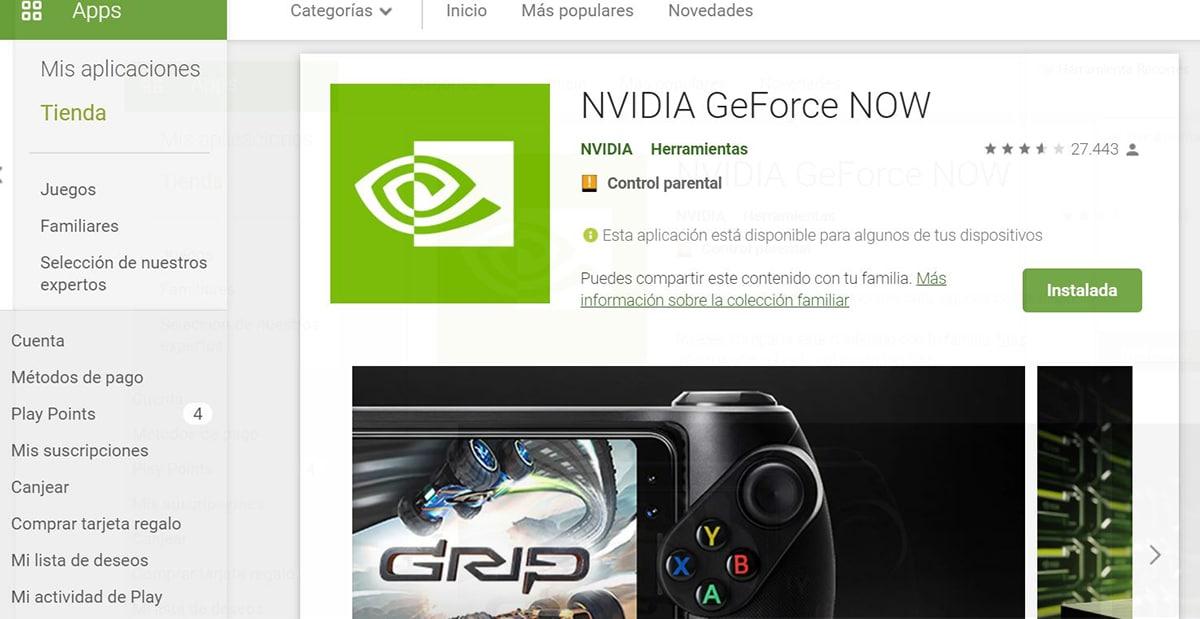 Geforce Now en Android
