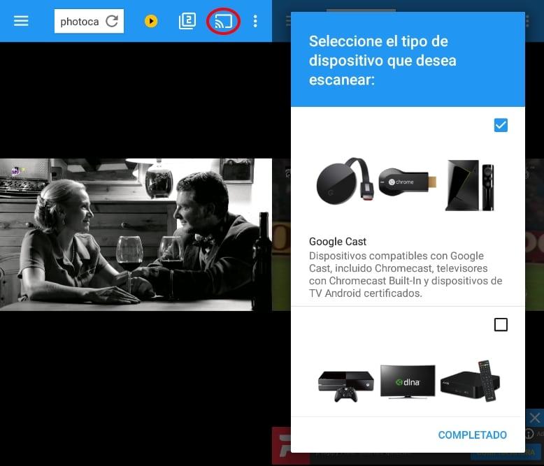 Chromecast Photocall Tv