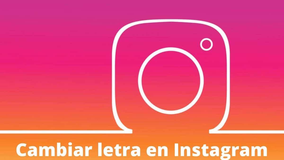 Cambiar letra Instagram