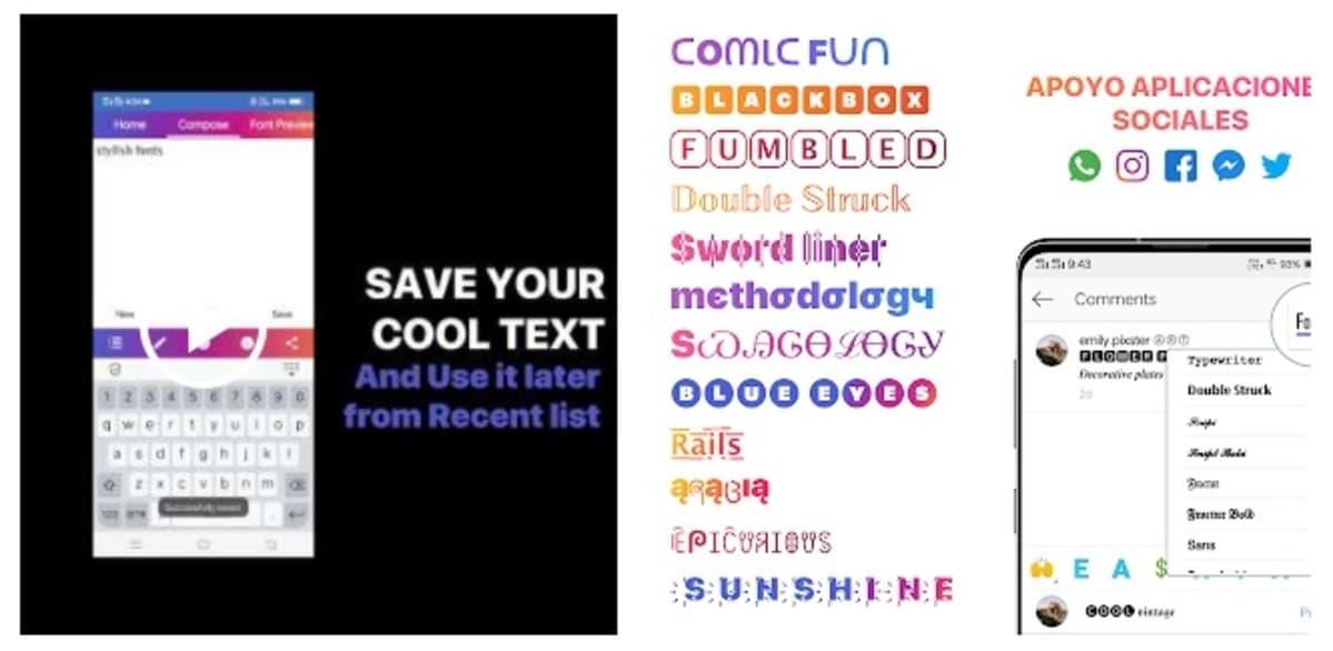 Cool fonts IG