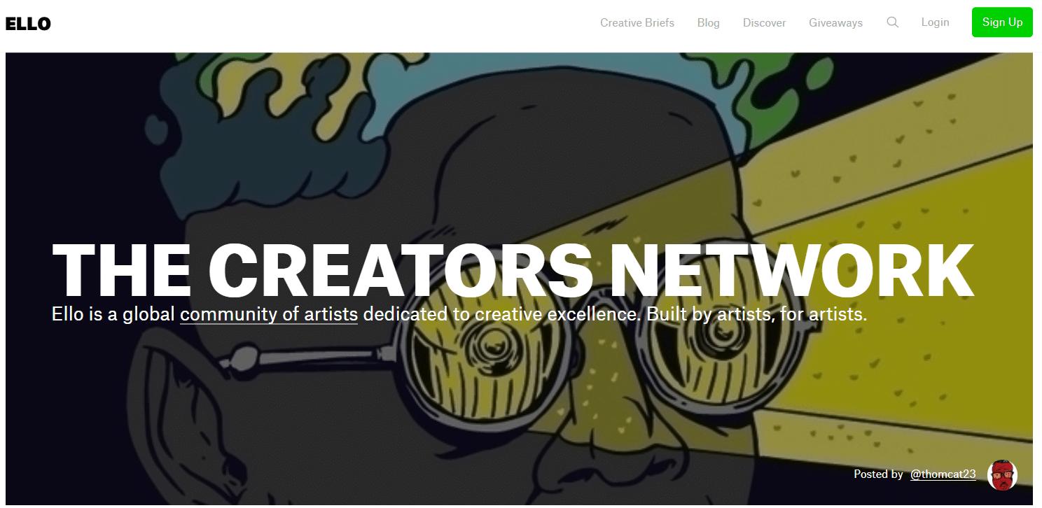 La red social de creadores, fotógrafos y diseñadores