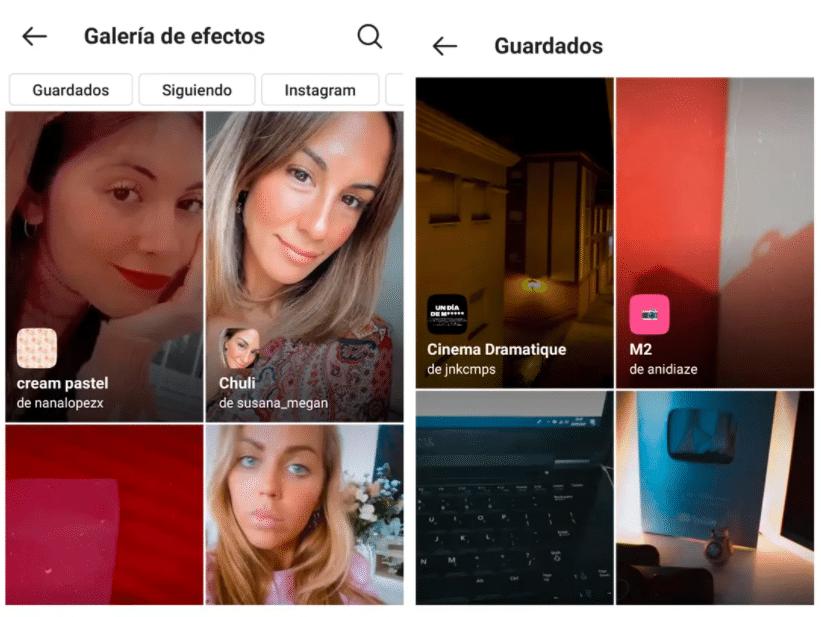 Explorador de efectos de Instagram