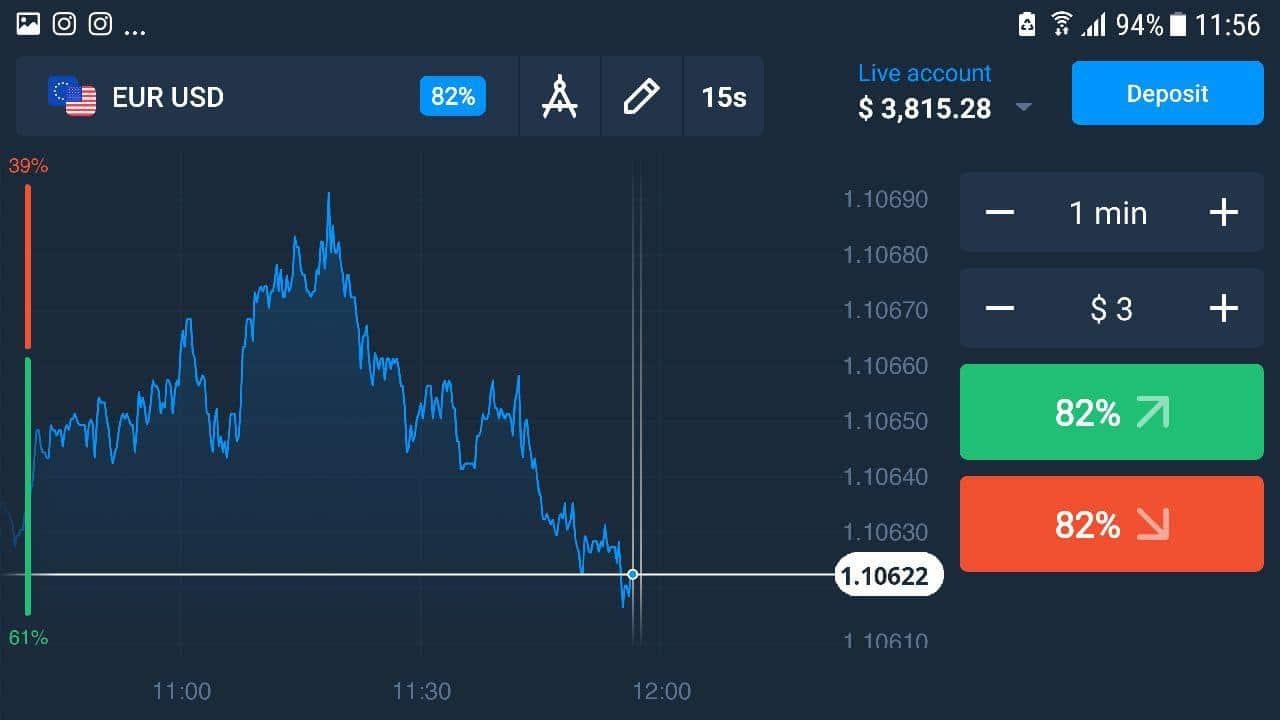 interfaz app de trading