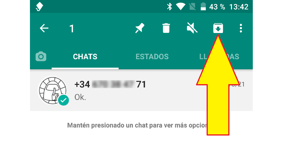 Archivas conversaciones WhatsApp
