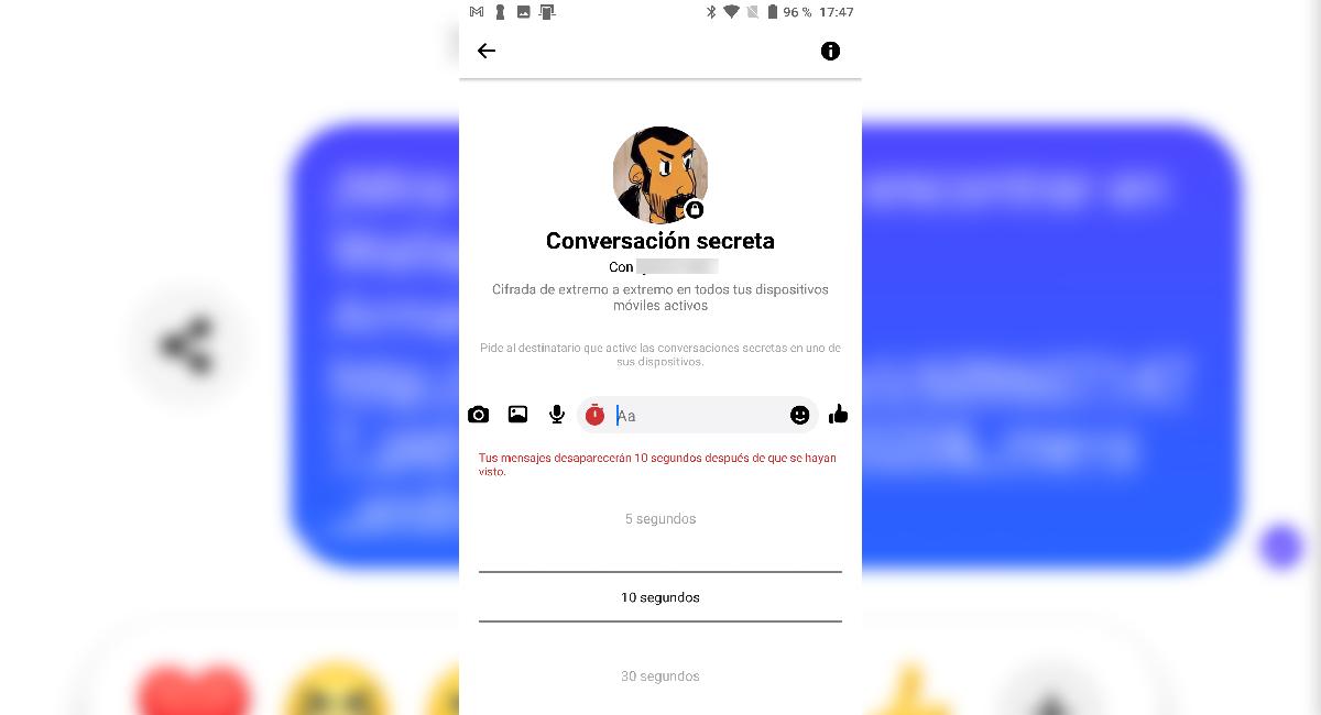 eliminar una conversación en Messenger