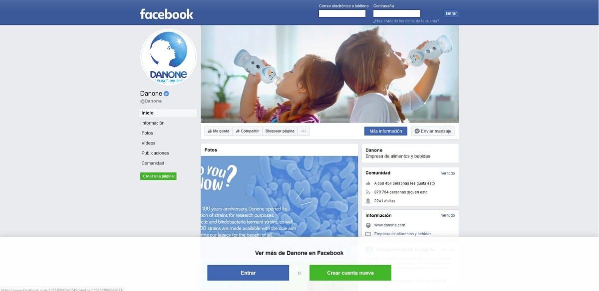 Utilizar Facebook sin cuenta