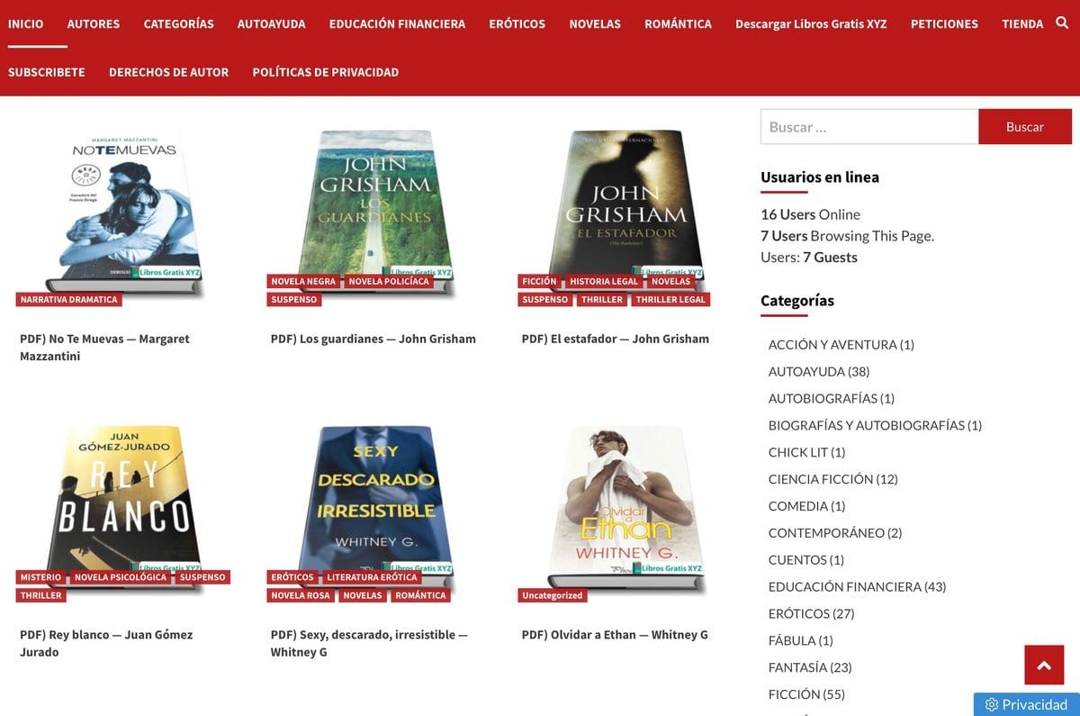 Categorías librosgratisxyz