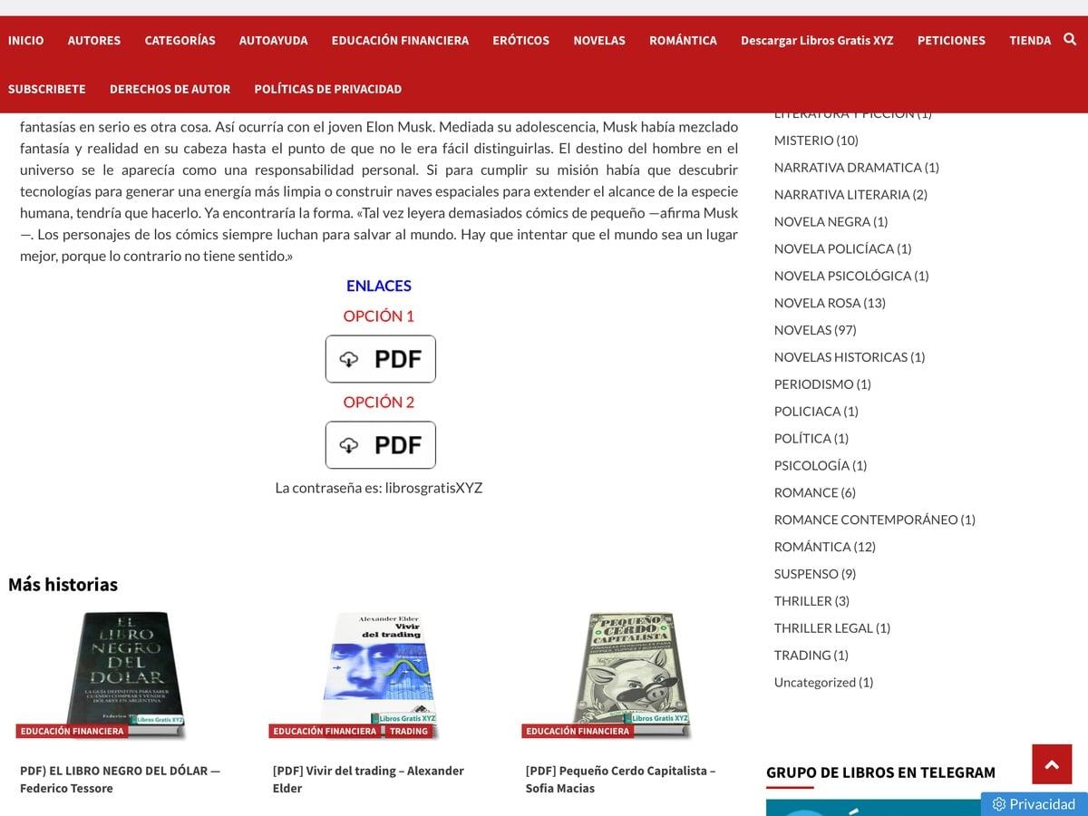Enlaces descargar librosgratisxyz