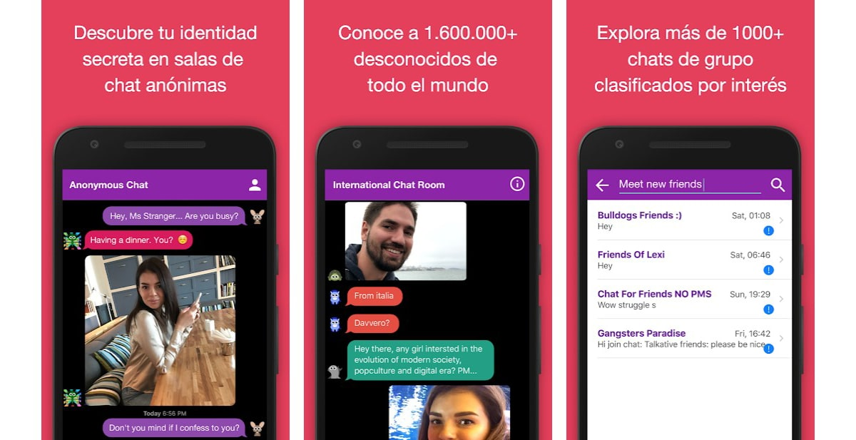 Chat anónimo en español
