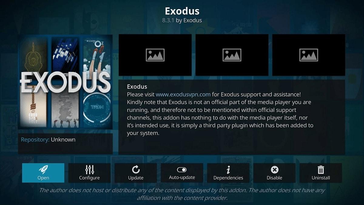 Exodus addon Kodi