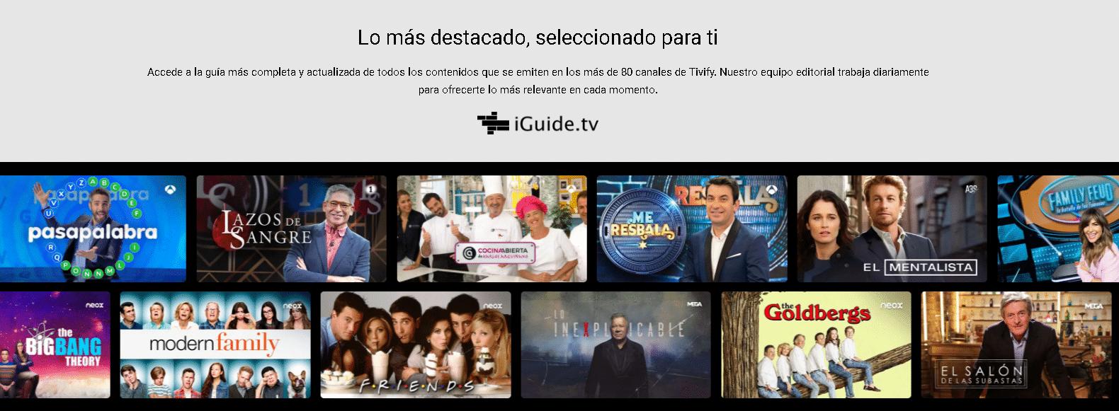 Guía de canales Tivify
