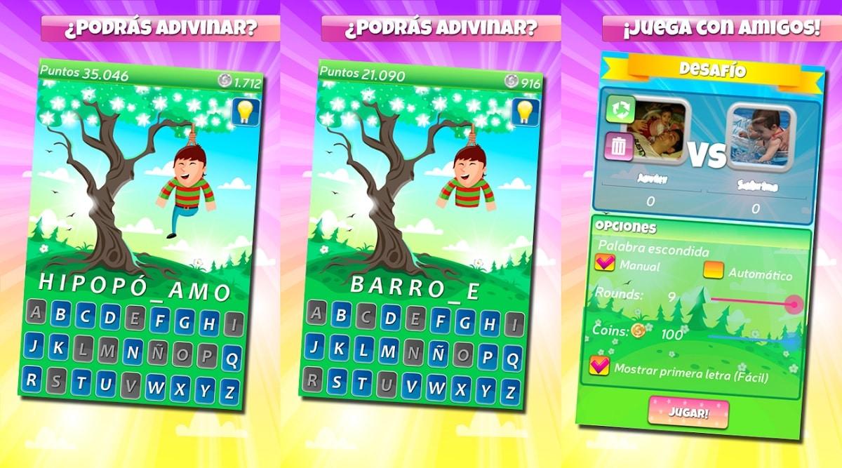 Ahorcados juegos 2 jugadores misma pantalla